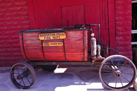 Antique Fire Department Water Wagon in Indiana