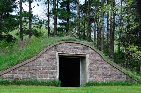Old Abandoned Root Cellar in Wisconsin