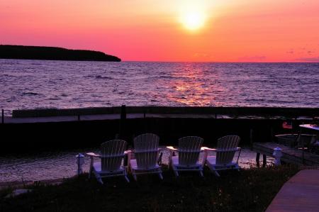 gills: Sunset - Ready to Relax - Gills  Rock, Door County, Wisconsin