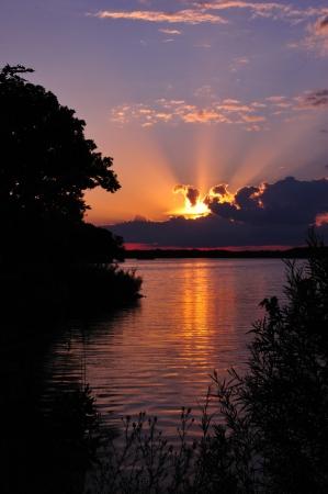 Sunburst Sunset at Chester Creek, Wisconsin