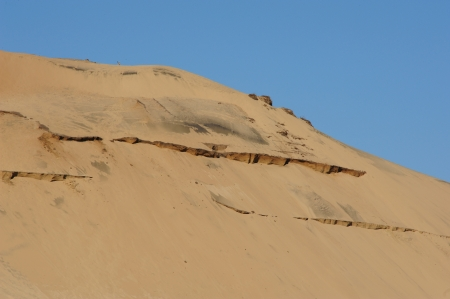 Huge Cape Kiwanda Cracks in Sandhill - Oregon Stock Photo - 15803632
