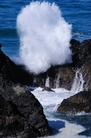 Massive Water Spout bij Cape Perpetua - Oregon