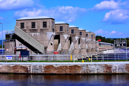 Stately Lock & Dam #5 on the Mississippi River