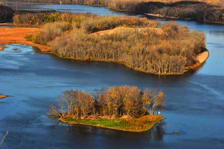 Islands Oasis In Mississippi River - Lansing, Iowa