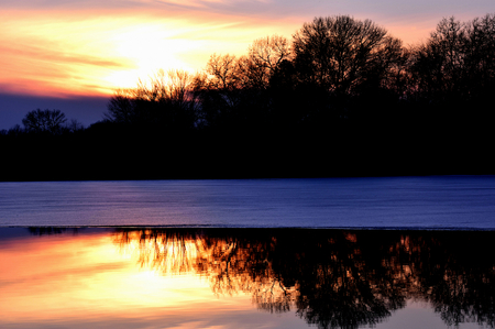 Christmas 2014 Sunset on Chester Creek, Wisconsin