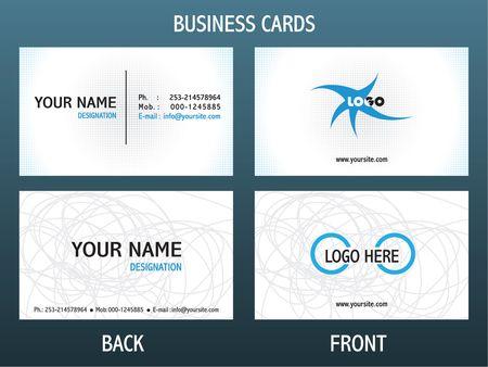 graphics card: set of business cards Illustration