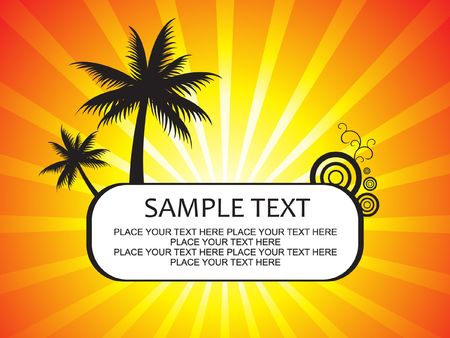 abstract summer holiday background Stock Vector - 6795848