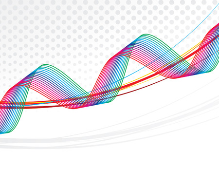 abstract colourful rainbow waves lines with grunge effect illustration Stock Vector - 6795790