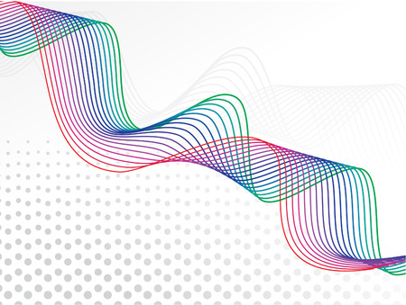 abstract curved wave rainbow lines background with the empty space for sample text illustration Stock Vector - 6795810