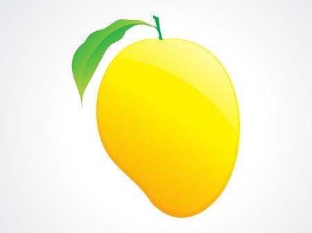 mango fruta: Ilustraci�n de frutas y hojas de mango de buen gusto