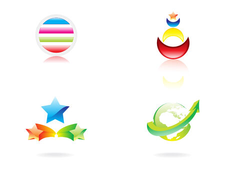 abstract illustration of the logo icons colorful Stock Vector - 6795972