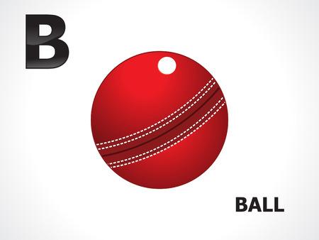 b ball: abstract alphabetical cricket ball vector illustration Illustration