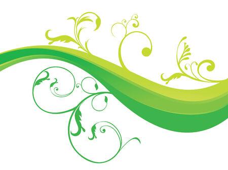 abstract floral groene vectorillustratie