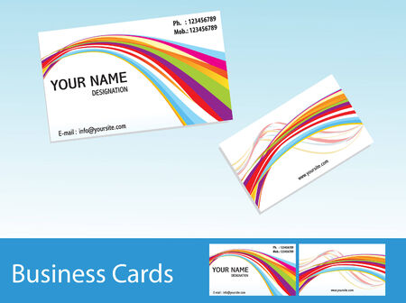visiting card design: abstract colorful business cards template vector illustration  Illustration