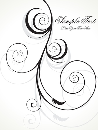 scroll background: abstract floral background vector illustration