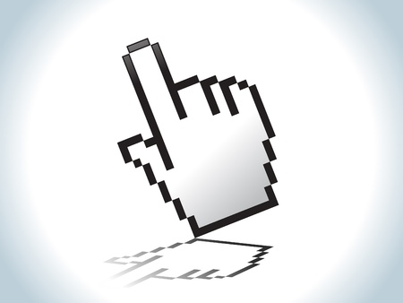 clique: abstract hand icon vector illustration