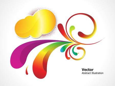 Resumen de la ilustración vectorial de fondo floral multicolor Ilustración de vector