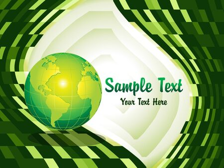abstract green glossy background vector illustration Stock Vector - 9085723