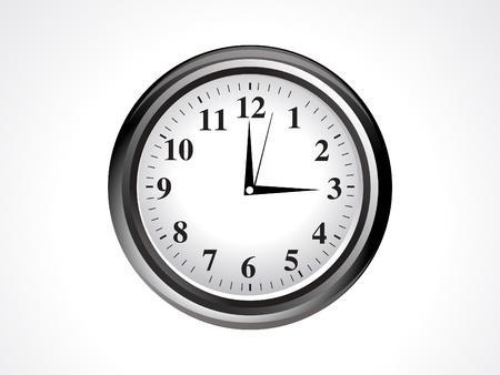 abstract clock  vector illustration  Vector