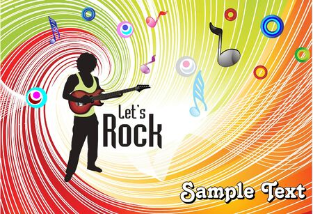 abstract colorful musical background vector illustration Stock Vector - 9085962