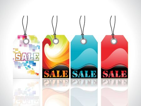 abstract glossy tags vector illustration Stock Vector - 9085735