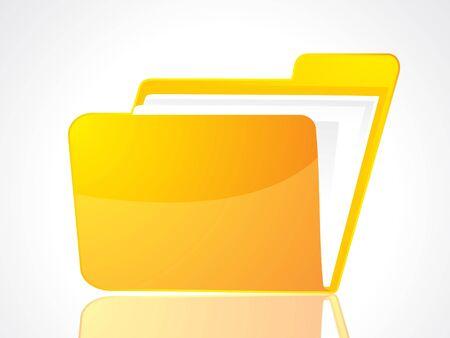 carpeta: Ilustraci�n de vector de icono de carpeta abstracto