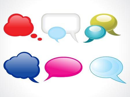 abstract glossy web chat balloons vector illustration Stock Vector - 9085505
