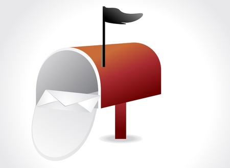 inbox: abstract inbox icon vector illustration