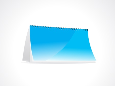ine: abstract note book in blue vector illustration