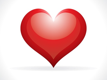 abstract glossy heart icon vector illustration Stock Vector - 9085408