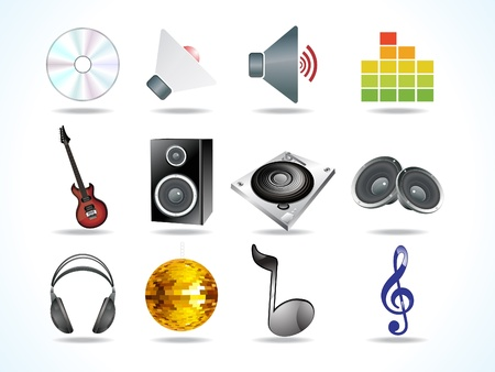 payer: abstract audio icons vector illustration