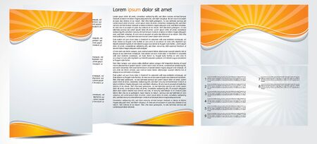 magazine design: abstract brochure in orange