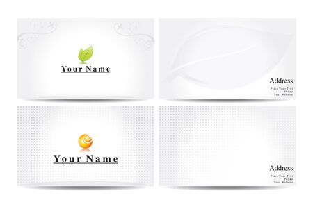 business card template: abstract business cards template vector illustration Illustration