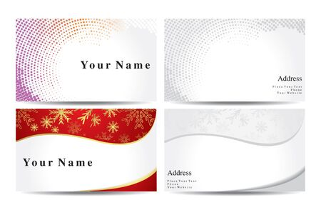 business card template: abstract colorful business cards vector illustration