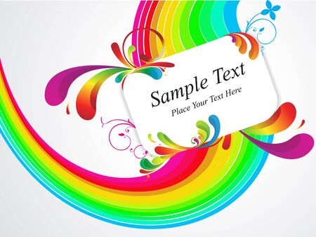 abstract colorful floral with gift card vector illustration Stock Vector - 9085585