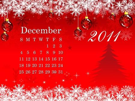 abstract december calendar  vector illustration Vector