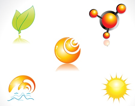 abstract glossy multiple icons vector illustration Vector