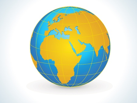 southern europe: abstract earth icon vector illustration  Illustration