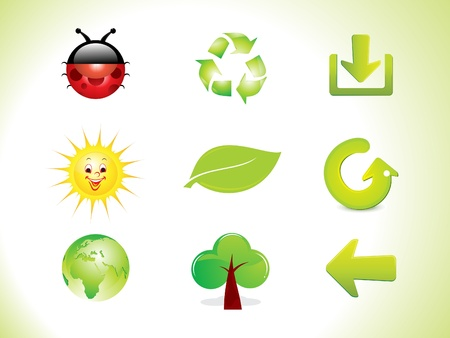 abstract eco icon set vector illustration  Vector