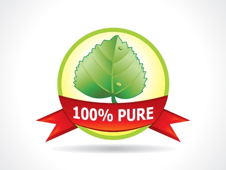 abstract eco icon with leaf vector illustration Vector
