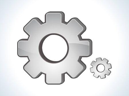 settings: abstracte glanzende instellingen pictogram vector illustratie
