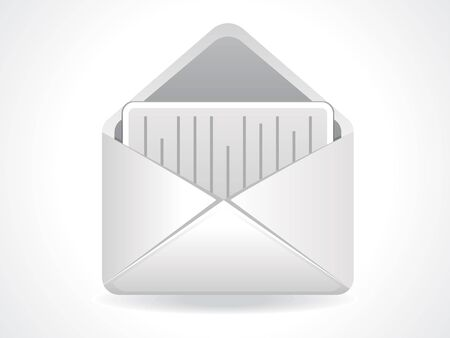 abstract mail icon vector illustration  Vector