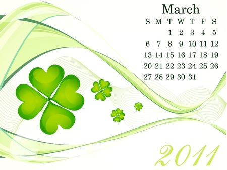 abstract march calendar vector illustration Vector