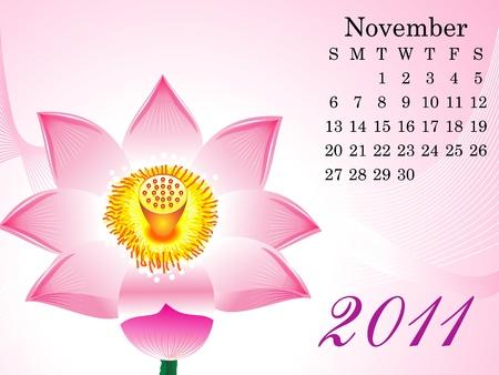 abstract november calendar vector illustration Vector