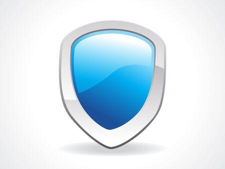 sheild: abstract sheild icon in blue vector illustration