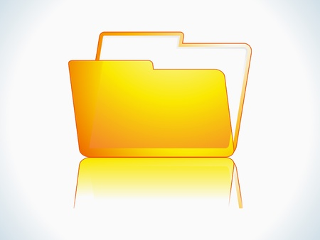 shiny folder icon vector illustration Stock Vector - 9085446