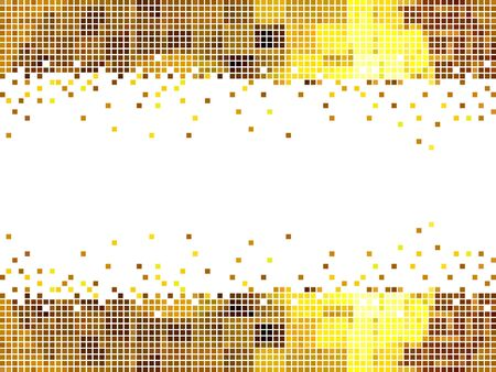 manic: abstract golden moasic background vector illustration