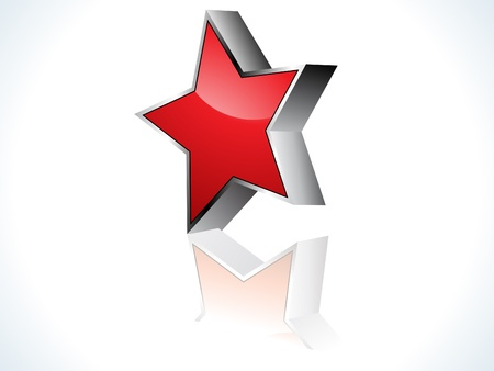 protuberant: abstract red 3d star icon vector illustration