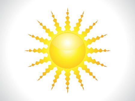 abstract shiny sun icon vector illustration Stock Vector - 9085390