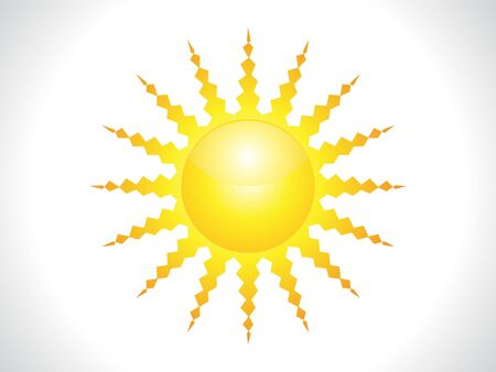 abstract shiny sun icon vector illustration Stock Vector - 9085390
